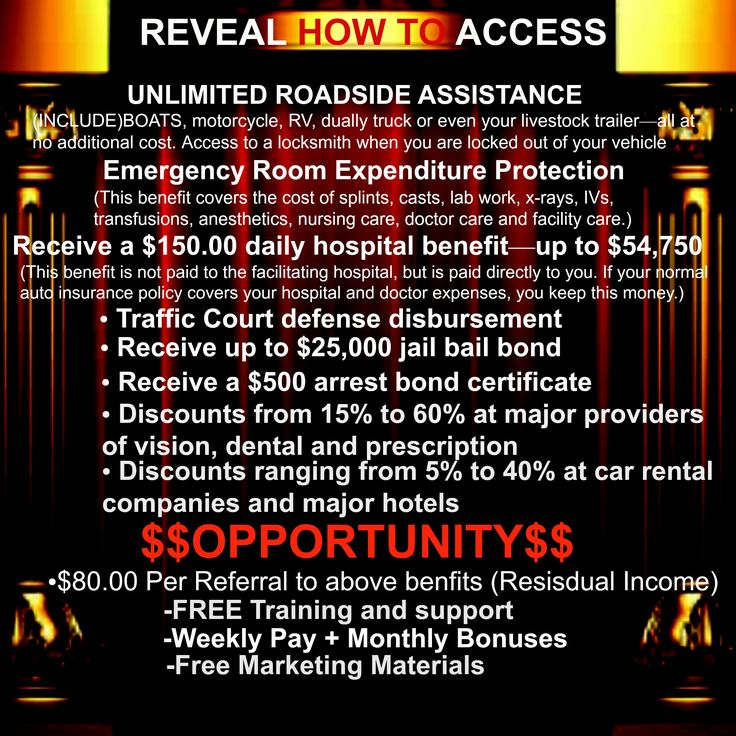 I know you're wondering what is this company that's been around since 1926 that provides all of these great benefits and Pays Out $80 commissions Per Referral, that includes the same free training and marketing tools that has made hundreds of six figure earners every year...Reveal It HERE>> www.mcacashbenefitinstitute.com Under [Become A MCA Agent]