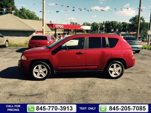 2008 Jeep Compass Sport 4x4 4dr SUV w/CJ1 red Call for Price 131000 miles 845-770-3913  #Jeep #Compass #used #cars #GreatBrandAuto #Newburgh #NY #tapcars