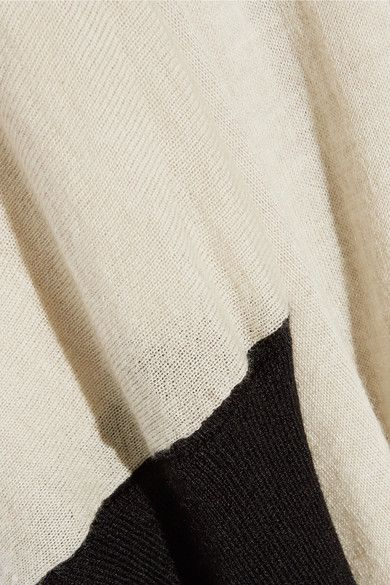 Marni - Bow-embellished Color-block Cashmere Sweater - Cream - IT40