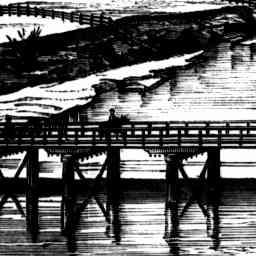 NEW BRIDGE OVER THE HAWKESBURY AT WINDSOR. 1874