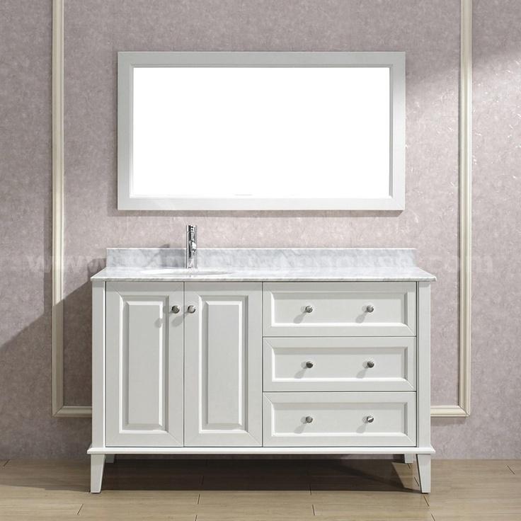 Best Single Traditional Bathroom Vanities Images On Pinterest - 55 inch double sink bathroom vanity for bathroom decor ideas