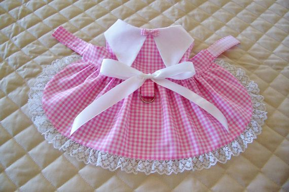 Handmade+XSS+Pink+and+White+Gingham+Dog+by+PreciousPupSupplies,+$14.50