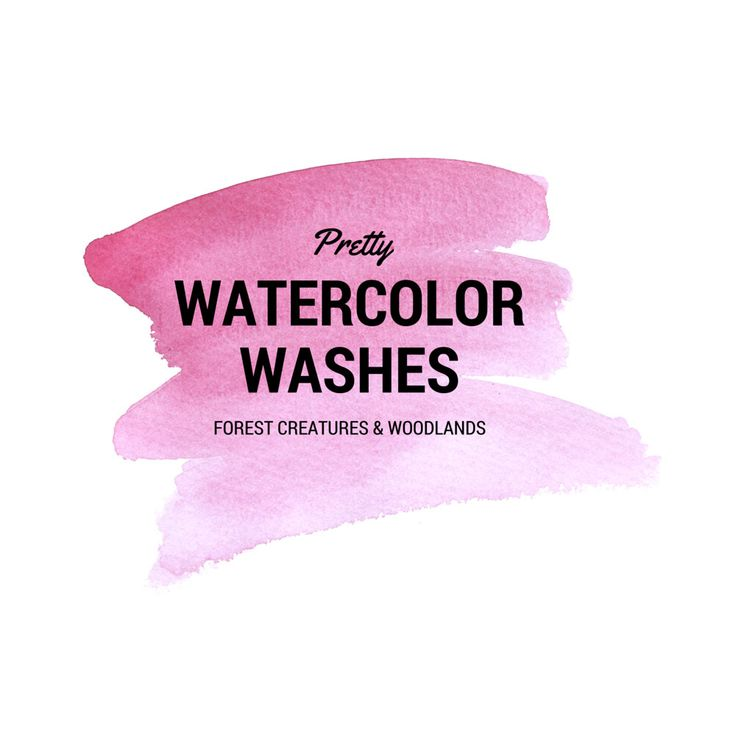 Pink Watercolor Wash Clip Art Brush Strokes Backgrounds Digital Art 300dpi png files graphics ombre Washes by theartcitizen on Etsy