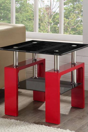 Elise Square Glass Coffee Table Red 220x330 Great Glass Coffee Tables For The Living Room