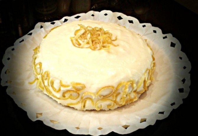 Citromos-sajtkrém torta