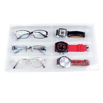 Ikee Design Acrylic Eyewear and Watch Organizer Tray