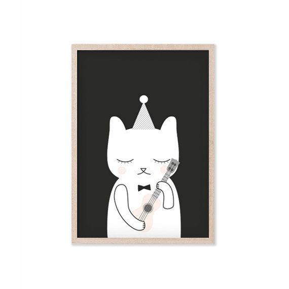 Ukulele Cat art print