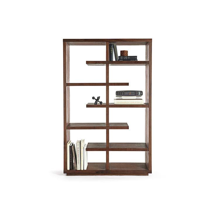 Elevate Walnut 68 Bookcase Walnut Bookcase And Bookcases