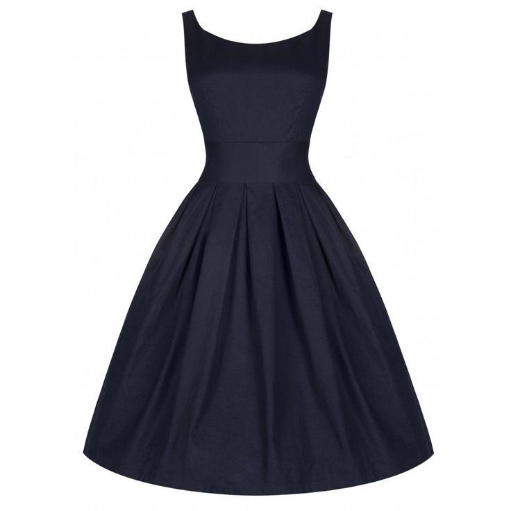 Vintage Wedding Dresses Kingston: 'Lana' Stunning Midnight Blue 50's Starlet Style Dress