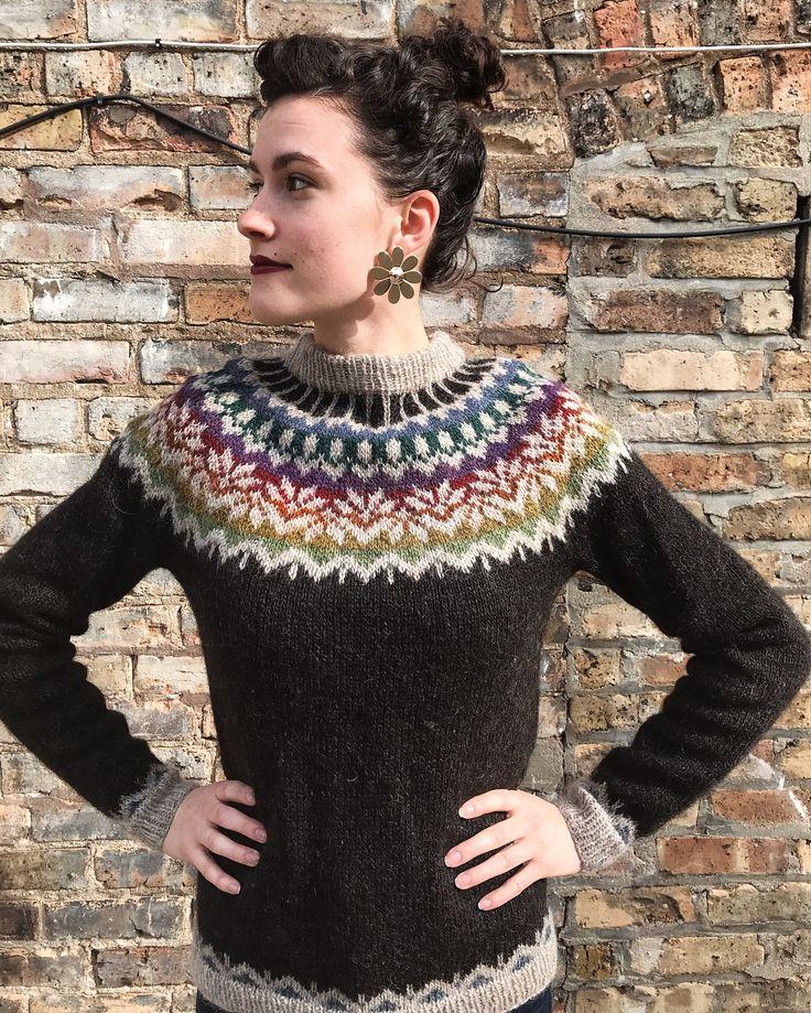 Lopi sweater finished! Patter