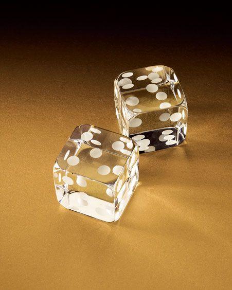 Baccarat crystal dice