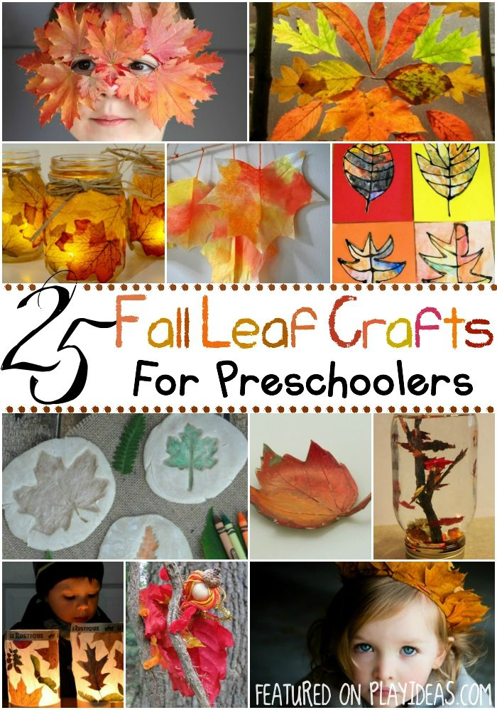 25 Fall Leaf Crafts for Preschoolers - perfect for when the bigger kids go back to school. Celebrate the season with these beautiful crafts! Click now!