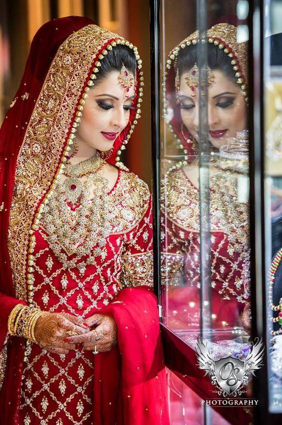 この上なく豪華絢爛! 「パキスタン」 の花嫁さんたちのウェディングドレス姿に感動です☆* | ZQN♡