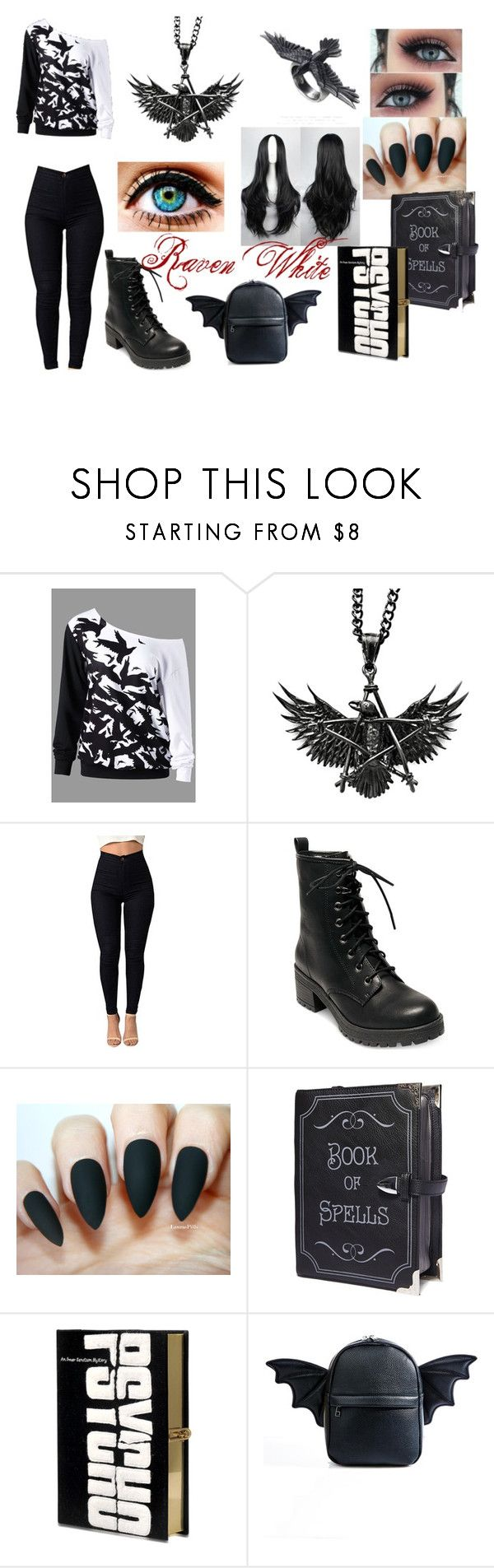 """Raven White"" by sabine-rainhart on Polyvore featuring Prophecy, Madden Girl, Current Mood and Olympia Le-Tan"