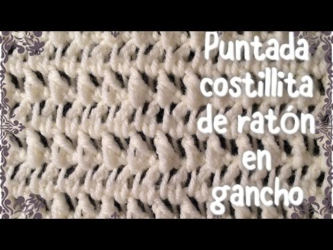 Puntada de conchitas en relieve para mantas de bebe en gancho #46 - YouTube