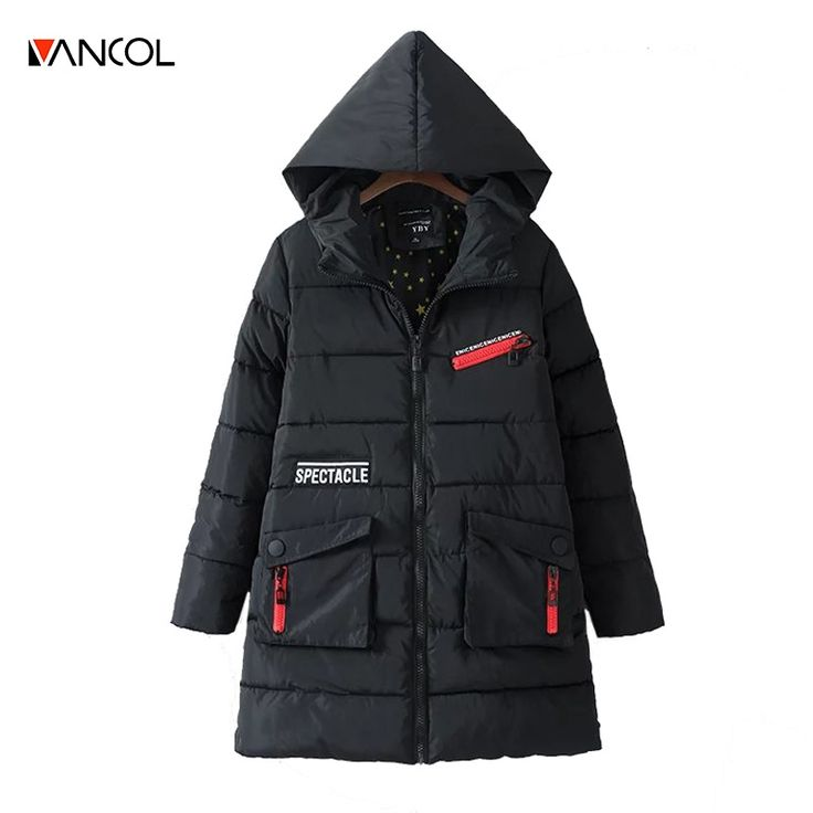 42.24$  Buy now - http://alidu4.worldwells.pw/go.php?t=32748324571 - vancol ukraine veste d'hiver femmes winterjassen dames 2016 casual black winter coat women hooded long ladies down jackets 42.24$