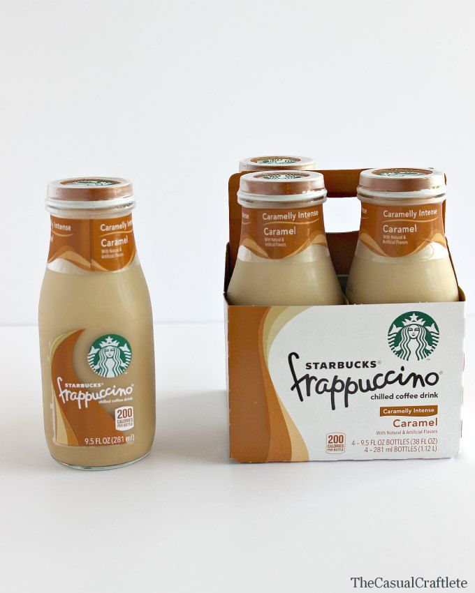 DIY Starbucks Glass Bottles Craft by www.thecasualcraftlete.com