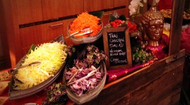 Crave Catering Thai hawkers stand food (coconut wombok salad)!