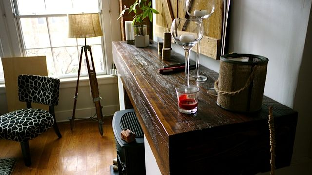 how to give wood a rustic look