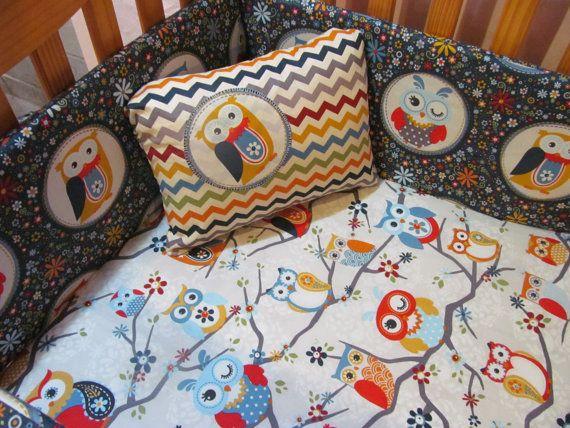 Custom Baby Crib Bedding Toddler Bedding Adorn by AngelBabyQuilts