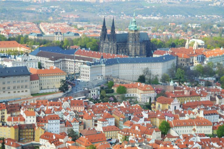 St. Vitus Cathedral. View from Petrin tower