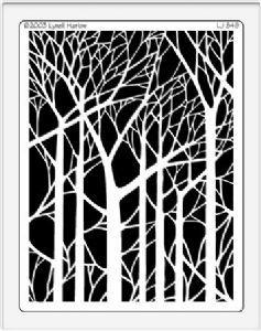 Dreamweaver Stencil - LJ849 - Bare Trees Silhouette