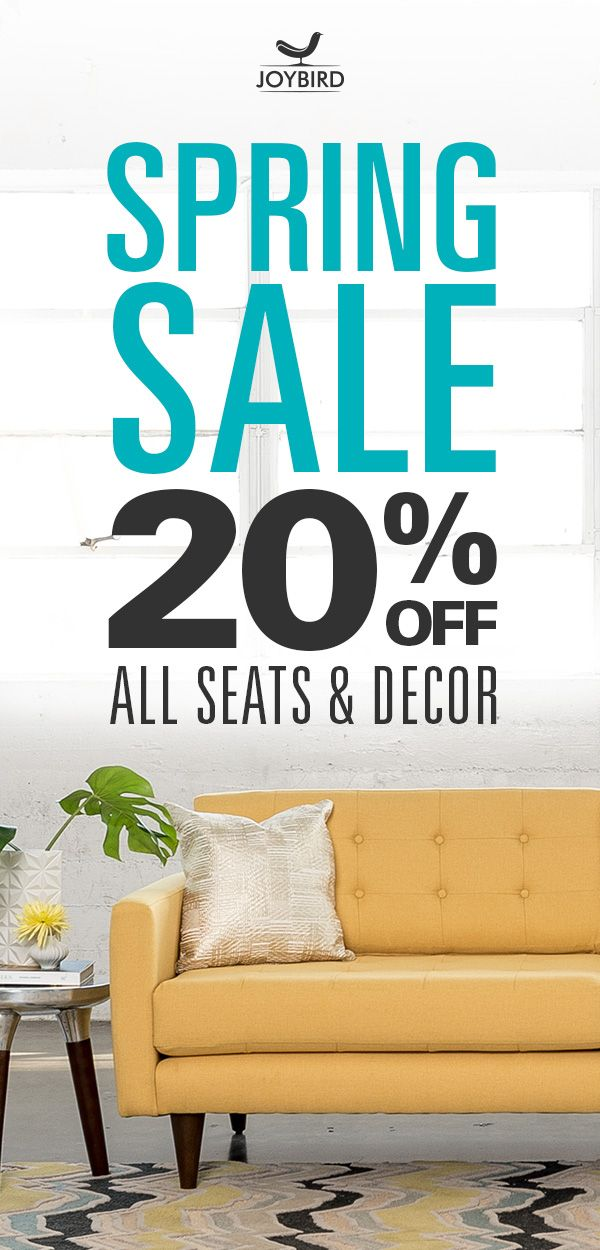 Looking to mix up the style in your home? Look no further than Joybird's selection of Mid-Century Modern pieces for every room in your home. From lamps to sleeper sofas, mixing up living furniture will take your entertaining space to the next level. Mix and match your home with Joybird today during our Spring Sale, and get 20% OFF all seats and decor!