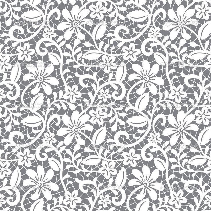 Белое бесшовное кружево — стоковая иллюстрация #13266323