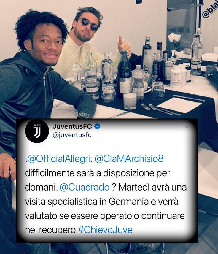 """121 mentions J'aime, 2 commentaires - Claudio Marchisio's fans (@_principinoclaudiomarchisiofan) sur Instagram: """"@marchisiocla8 ...ti aspettiamo presto in campo!!!❤️ @cuadrado ...in bocca al lupo!!🤞🏼❤️…"""""""