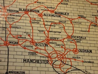 Tiled Map In Victoria Station Manchester  LampY  Pinterest