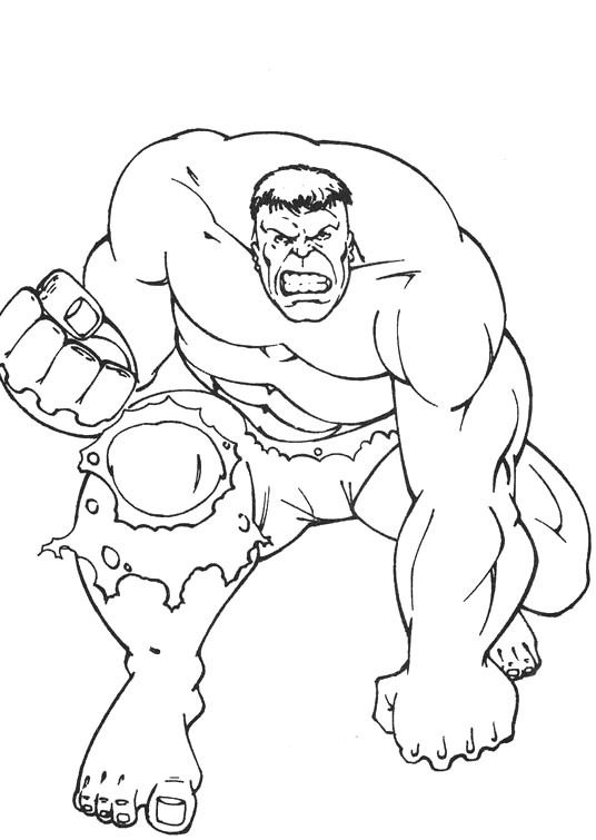 Hulk Make A Fist Hand Coloring Page