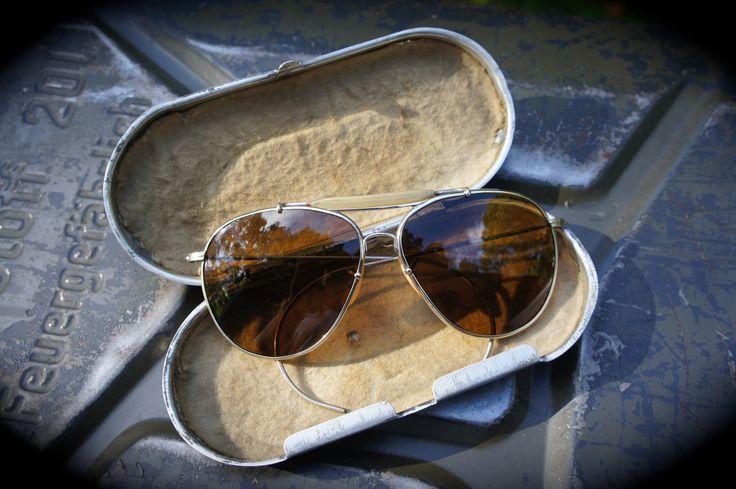 WW2 AN-6531 aviator sunglasses sold by eBay member schutzenfest42