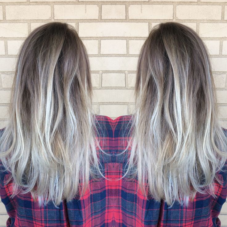 Icy blonde balayage by Melissa Lusby at Amanda Maddox Salon
