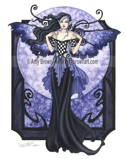 This is one of Amy Browns faeries, Gothic style the way that I like it. For a long time she inspired me in my crafting and art making, I think is time to reconnect with this wonderful artist.