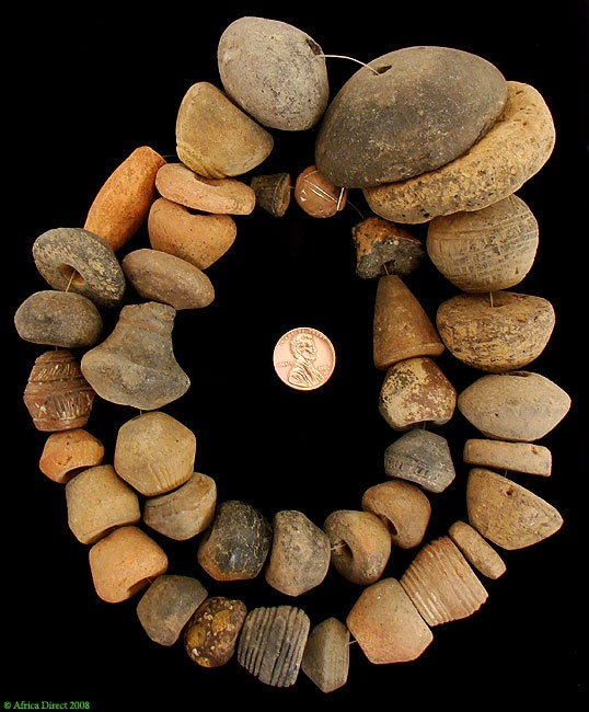 Ancient Terracotta Beads Chad Sao Spindle Whorls by africadirect, $150.00