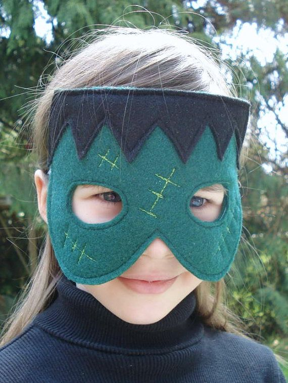 Frankenstein Mask for Halloween by herflyinghorses on Etsy, $14.50