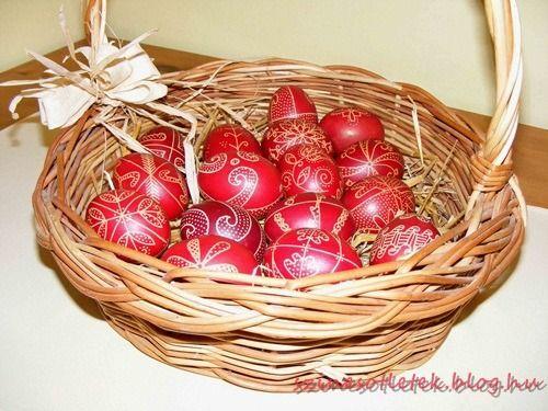 hímes_tojás húsvét íróka tojásfestés