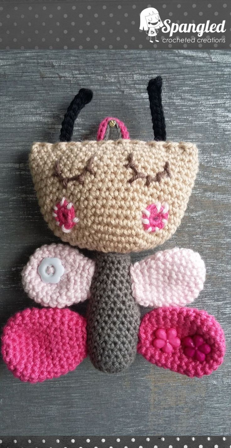 Butterfly Amigurumi Toy by SpangledCrochet on Etsy