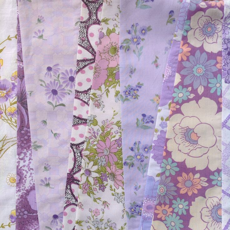 Strip patchwork with vintage fabrics!