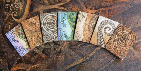 Whispers of Aotearoa Gift Card Set by Fernpetrie on Etsy