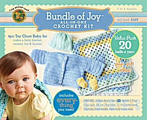 Bundle of Joy: Toy Chest Baby Set from Lion Brand Yarn: Babies, Crochet Fun, Crafts Ideas, Gifts Ideas, Baby Gifts, Baby Liyah, Branding Yarns, Baby Sets, Chest Baby