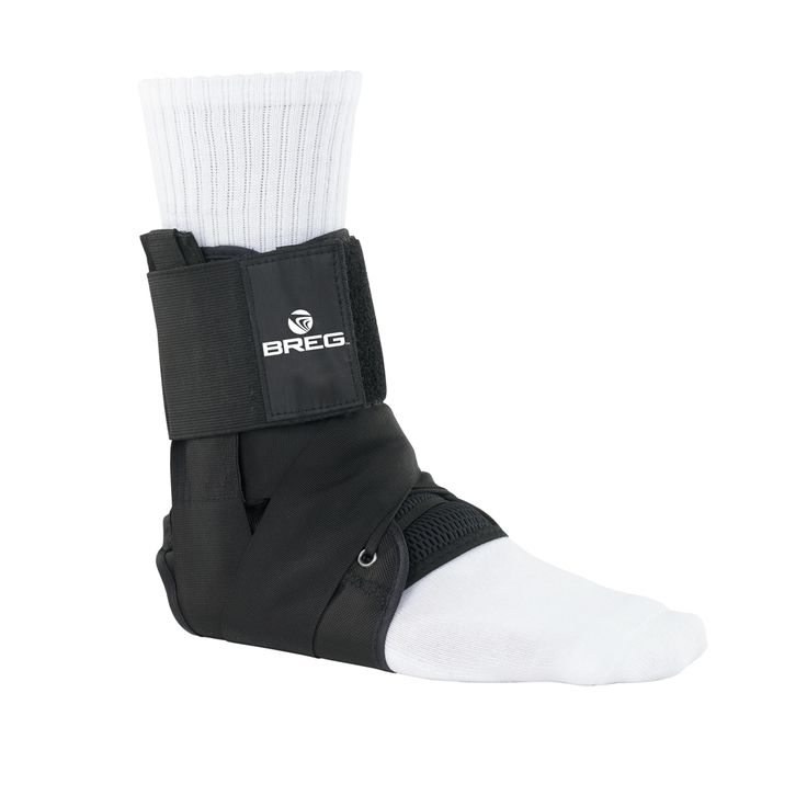 Breg Lace Up Ankle Brace with Tibia Strap