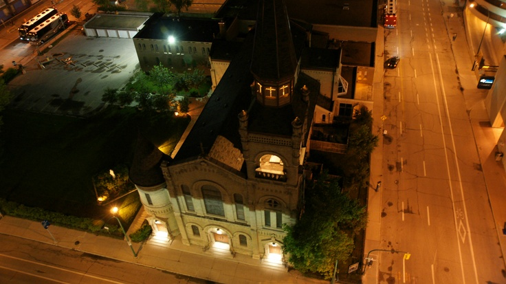 View from Delta Winnipeg:  St Mary's Cathedral on St Mary Ave #Winnipeg