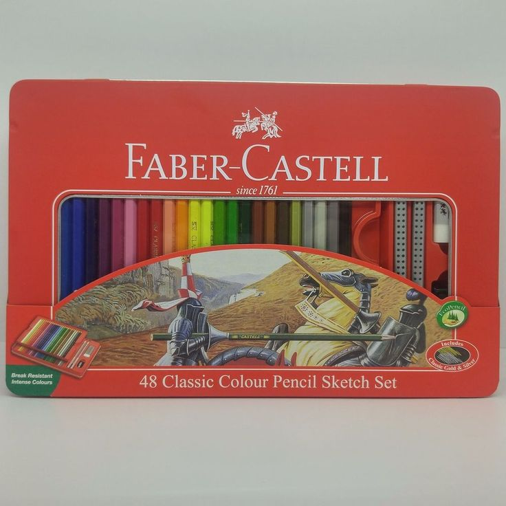 Faber-Castell 48 Classic Color Pencil 48 Colors Tin Case Drawing Painting #FaberCastell