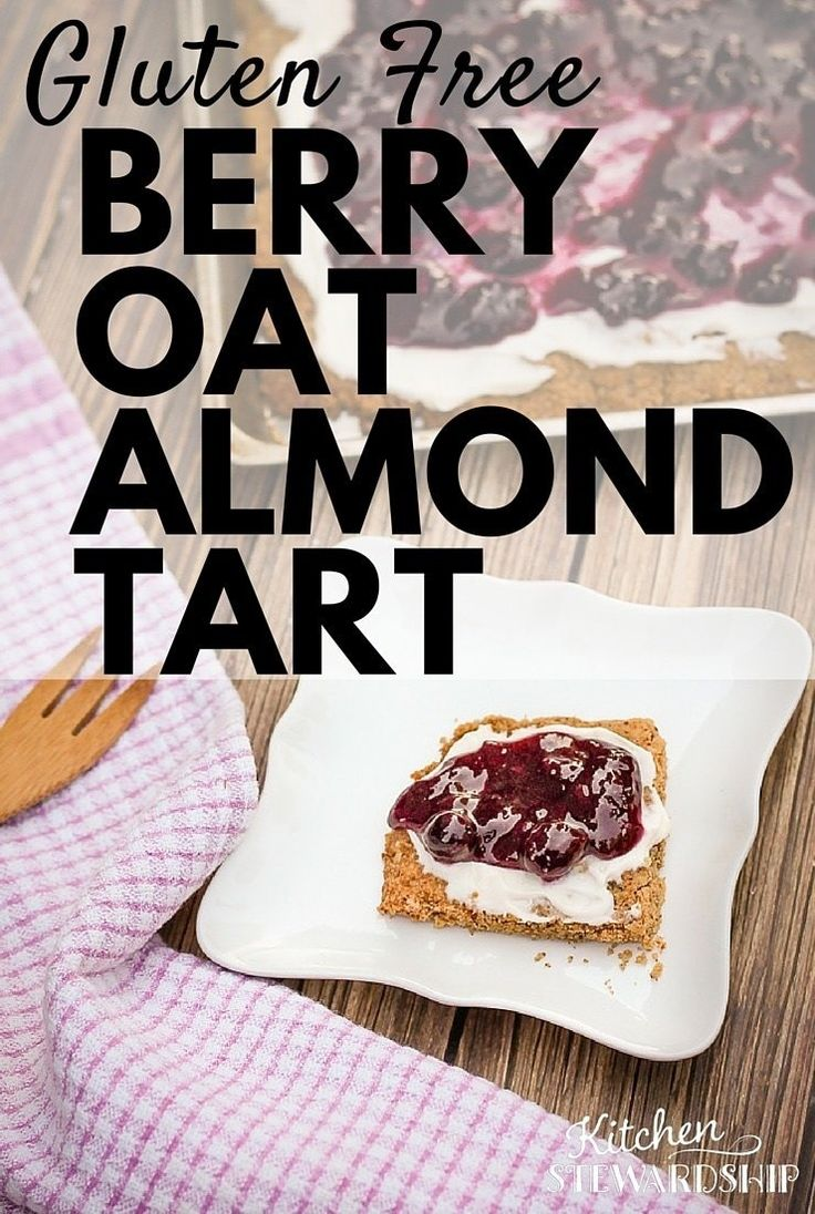 100% homemade, no boxed mixes - this gluten-free berry tart is moist, delicious, and full of real nutrition. Berries, nuts, yogurt cheese frosting...you're ready to collect compliments at your next party! #tart #gluten-free
