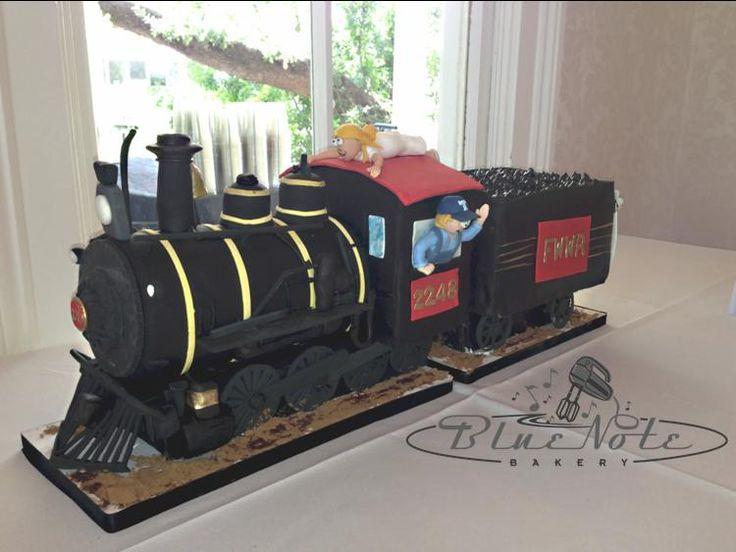 Cake With Train Design : Tarantula Fort Worth Train Groom s Cake Wedding ...
