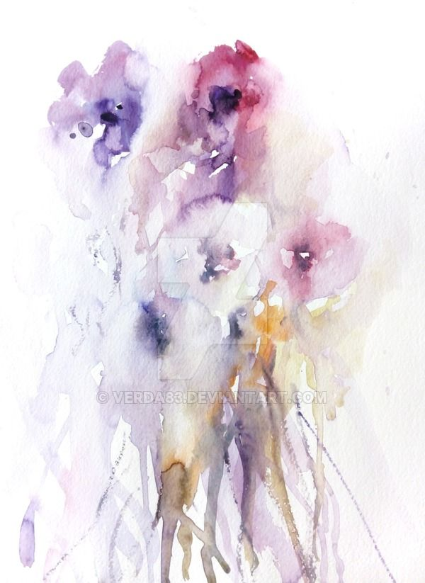 Fiori Watercolor.Colata Di Fiori By Verda83 On Deviantart Watercolor Splash Ink