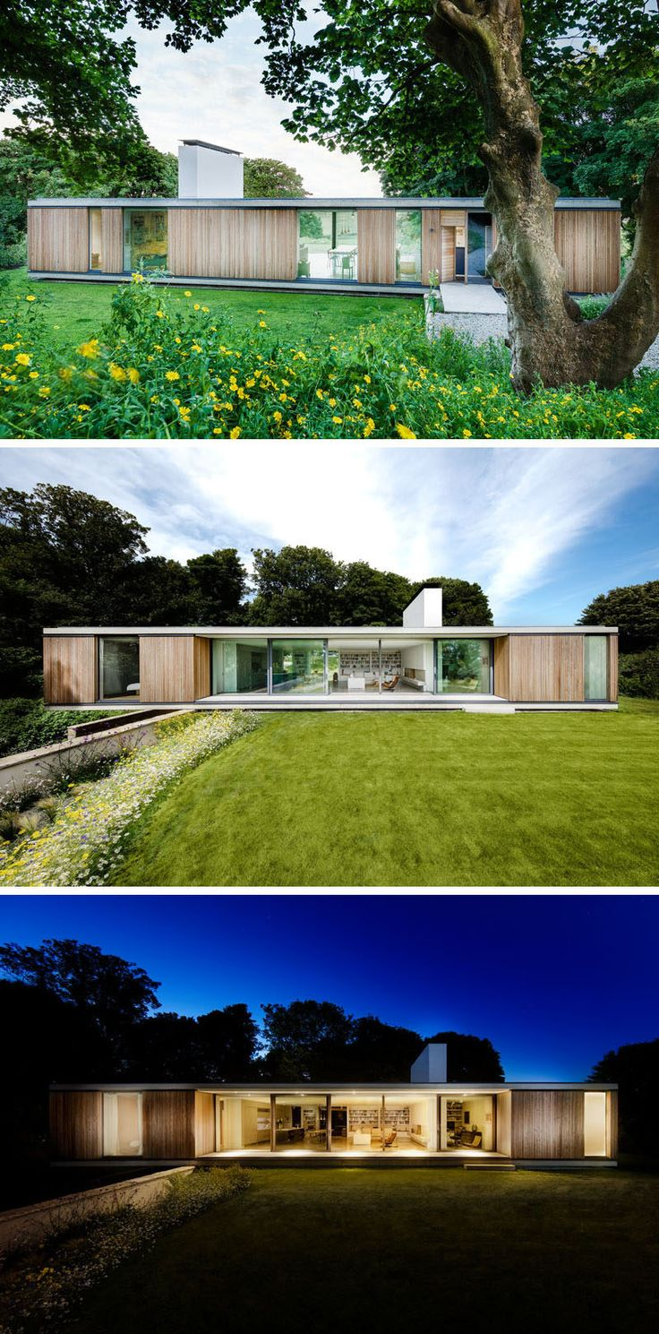 Ström Architects have designed this new contemporary home in Swanage, England, that's a replacement for an aging bungalow that had been on the site since 1917.