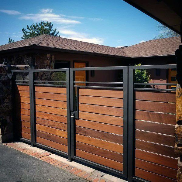 Top 40 Best Wooden Gate Ideas Front Side And Backyard Designs Entrance Gates Design Wooden Gate Designs House Gate Design