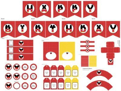 Free mickey mouse party printables by magicalprintable.com